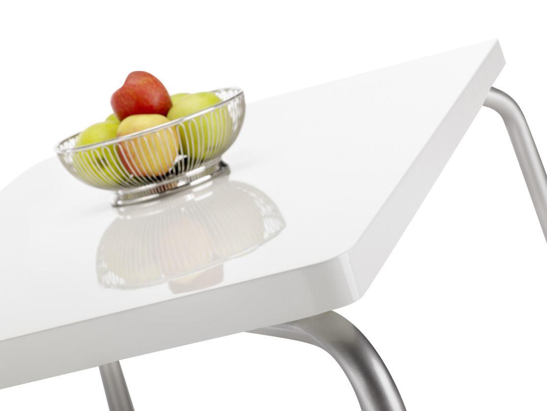 Tischplatte weiß hochglanz  besonders stabiler Küchentisch