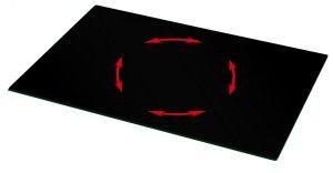 um 360 drehbare tv glasplatte zum drehen von fernseher auf einem tv rack. Black Bedroom Furniture Sets. Home Design Ideas