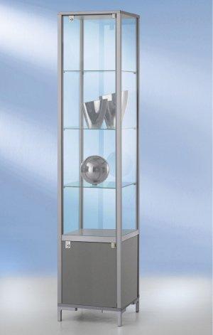 quadratische glasvitrine 40x40x186cm abschlie bare drehfl gelt r. Black Bedroom Furniture Sets. Home Design Ideas