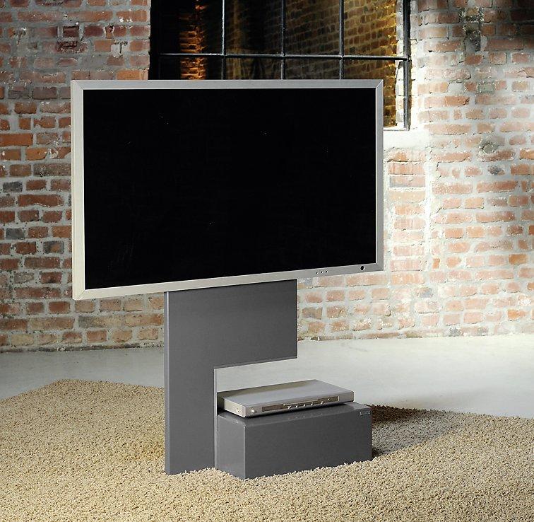 hochwertiger fernseher standfu mit verdeckten laufrollen. Black Bedroom Furniture Sets. Home Design Ideas