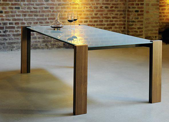 Esstisch glas holz rund  Nauhuri.com | Esstisch Holz Glas Edelstahl ~ Neuesten Design ...