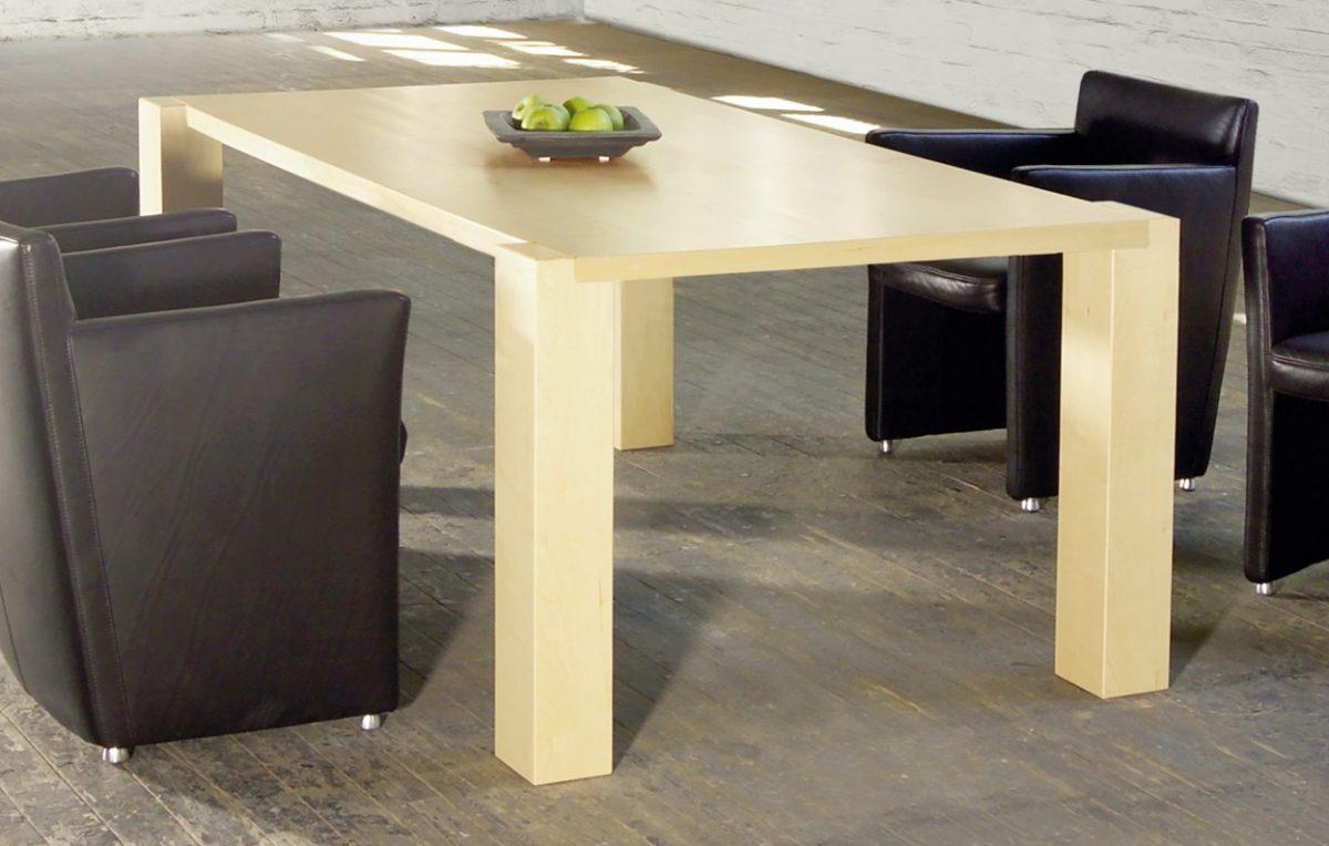 robuster und moderner ahorn esstisch loft art607 von. Black Bedroom Furniture Sets. Home Design Ideas