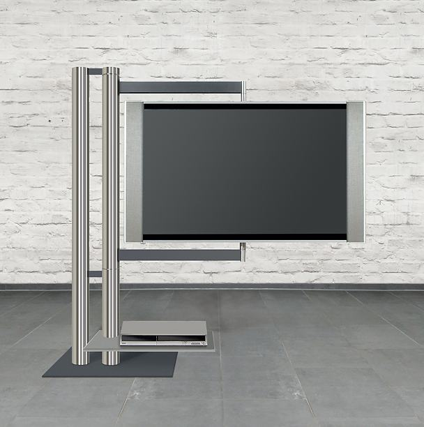 Abbildung* nach allen Richtungen frei drehbarer TV-Standfuß