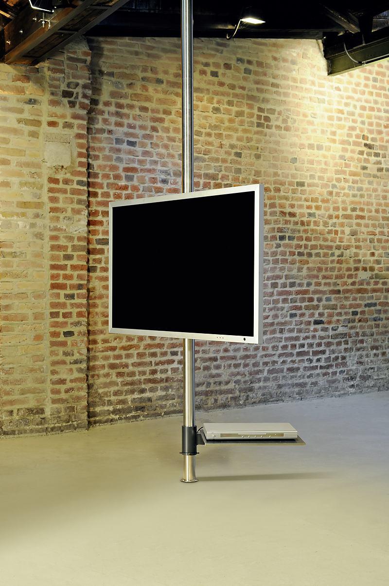 Tv drehbar 360° Flatscreen-Edelstahlhalterung vom Boden bis zur Decke