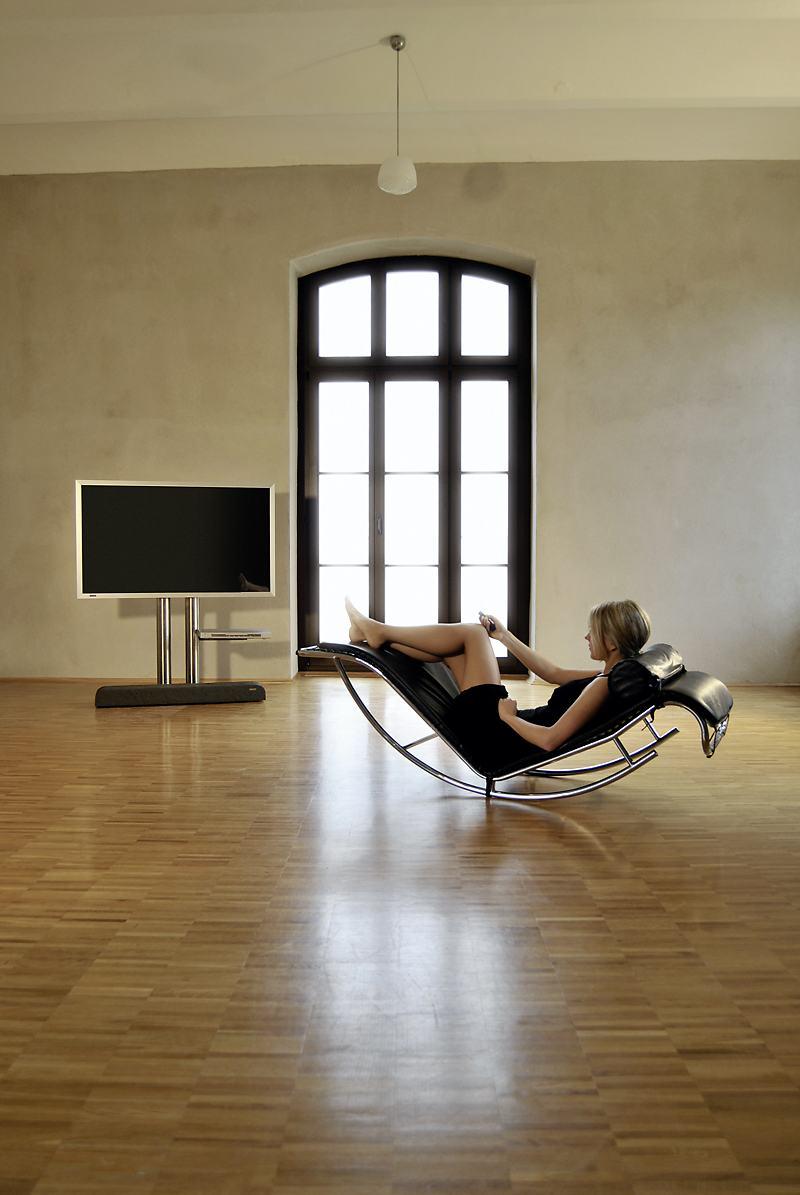 tv edelstahl standfu twin art114 mit halterungsplatte aus edelstahl f r av ger te oder. Black Bedroom Furniture Sets. Home Design Ideas