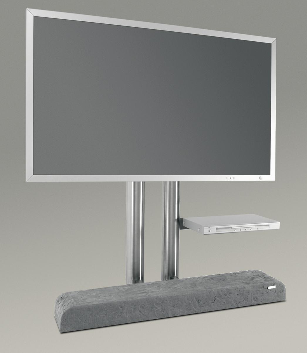 tv edelstahl standfu twin art114 mit fachboden. Black Bedroom Furniture Sets. Home Design Ideas