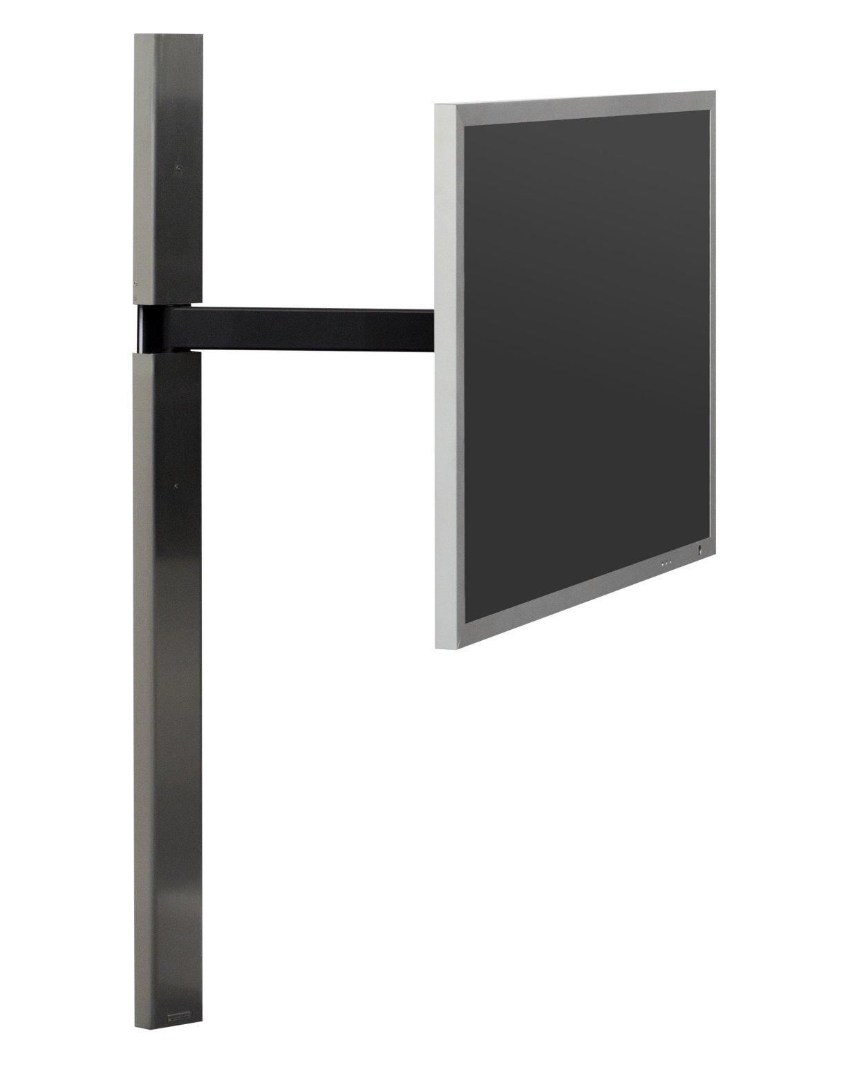mit fernbedienung elektrisch verstellbare fernseher wandhalterung mit einem frei schwenkbaren. Black Bedroom Furniture Sets. Home Design Ideas