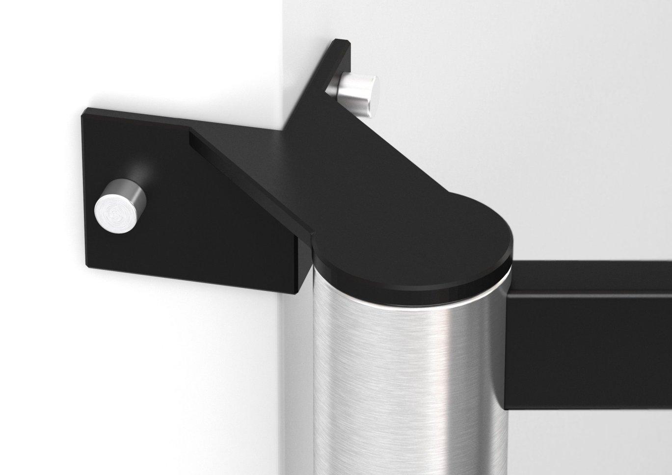frei schwenkbare tv wandhalterung bis 85 zoll ber eck montage. Black Bedroom Furniture Sets. Home Design Ideas