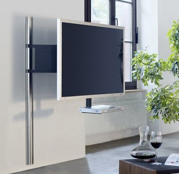 elegante und sehr stabile tv wandhalterung mit drehbarem. Black Bedroom Furniture Sets. Home Design Ideas